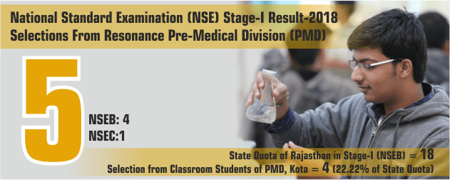 NSE Stage-1 2018 Result form Pre-Medical division